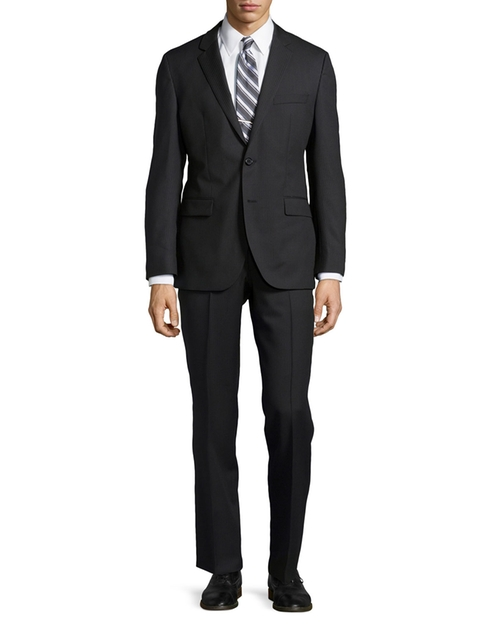 Tonal Stripe Two-Piece Suit by Hugo Boss in Suits