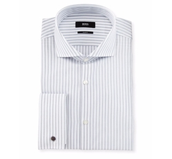 Jaiden Track-Stripe Dress Shirt by Boss Hugo Boss in Ballers