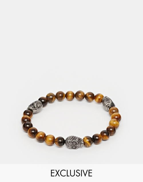 Tigers Eye Beaded Bracelet by Simon Carter in Ballers - Season 1 Episode 7