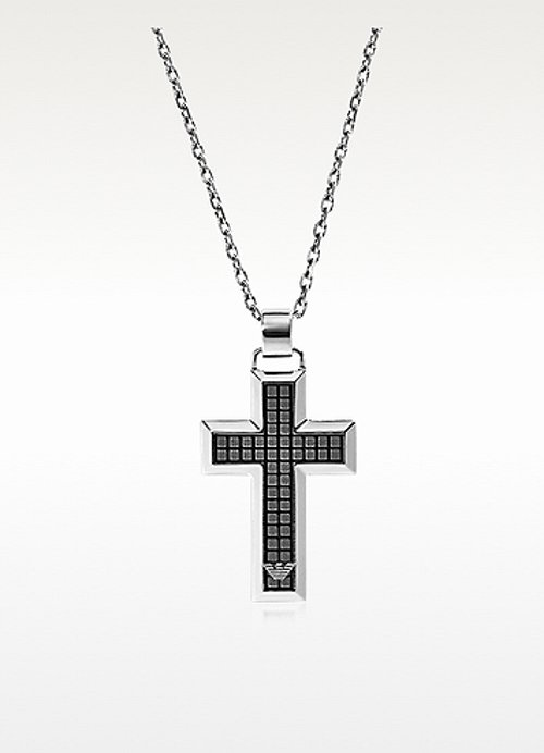 Steel Necklace With Cross Pendant by Emporio Armani in Top Five