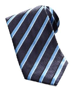 Textured Stripe Tie, Blue by Brioni in Million Dollar Arm
