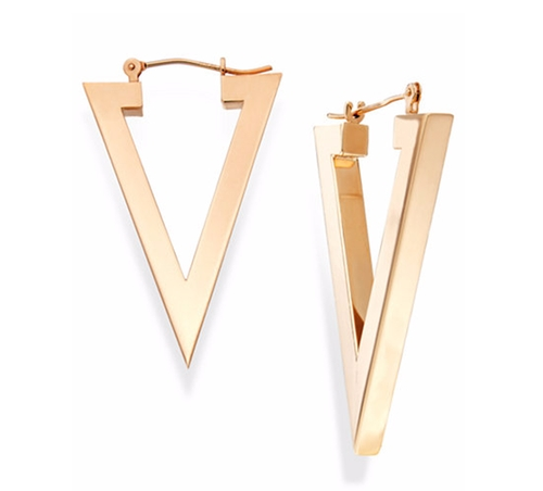 Triangle Hoop Earrings by Macy's in Sisters