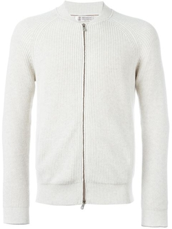 Ribbed Zip Cardigan by Brunello Cucinelli in Gossip Girl