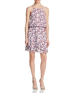 Carla Cherry Print Ruffle Dress by Cooper & Ella in Mistresses