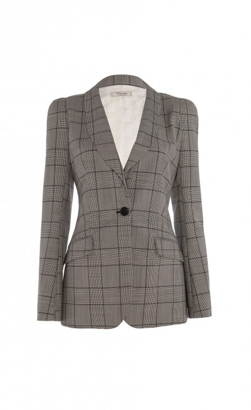 Millie Prince of Wales Check Wool and Mohair-Blend Blazer by Temperley London in Scandal - Season 5 Episode 1