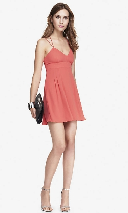 Coral Strappy Babydoll Dress by Express in Me and Earl and the Dying Girl
