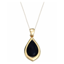 Onyx Teardrop Pendant Necklace by Signature Gold in How To Get Away With Murder