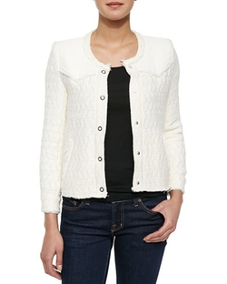 Halston Textured Woven Jacket by Iro in Vacation