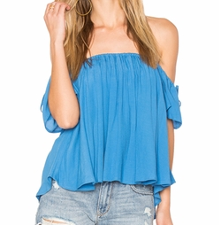 Off Shoulder Baby Doll Top by Blq Basiq in Ingrid Goes West