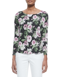 Emele Floral-Print Jersey Top by Joie in The Big Bang Theory