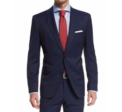 Solid Two-Piece Wool Travel Suit by Boss Hugo Boss  in The Bachelorette