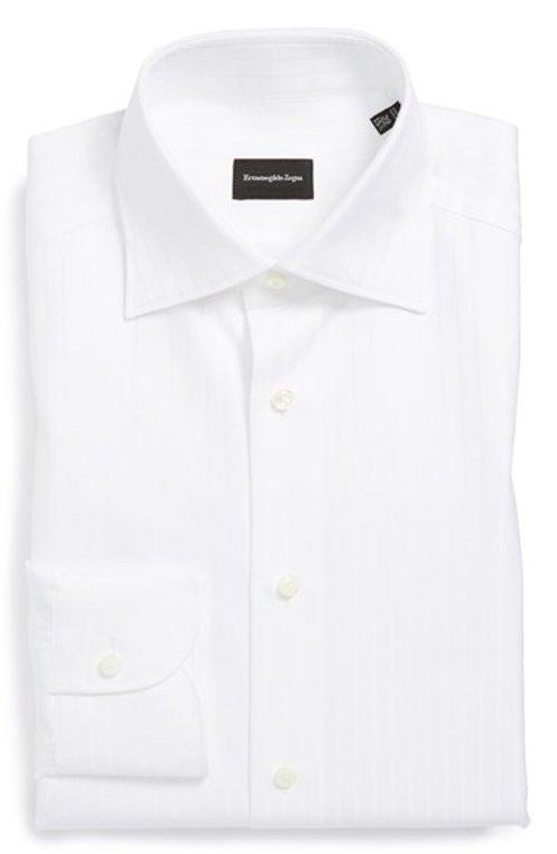Regular Fit Solid Dress Shirt by Ermenegildo Zegna in A Most Violent Year