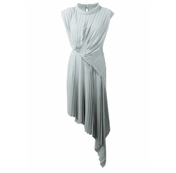 Pleated Asymmetric Midi Dress by Maison Margiela in Quantico
