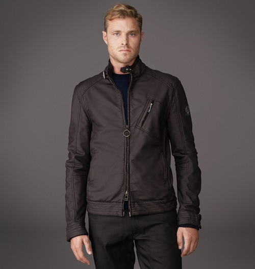 H Racer Jacket in Washed Rubberized Jersey by Belstaff in Need for Speed