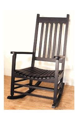 Antique Black Hardwood Outdoor Rocker by Cowboy Christian Living in Lee Daniels' The Butler