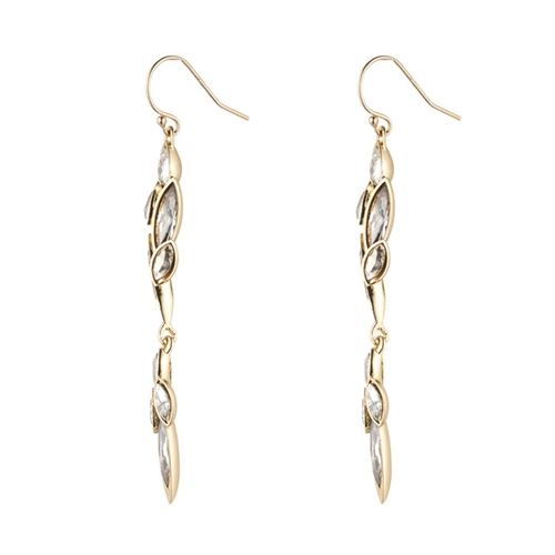 Gold Liquid Crystal Cluster Drop Earrings by Alexis Bittar in Arrow - Season 4 Episode 9