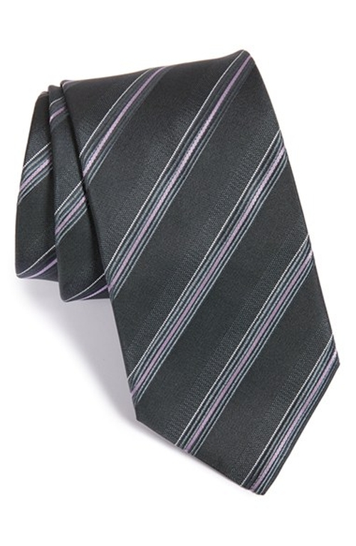 Stripe Silk Tie by Boss in The Departed