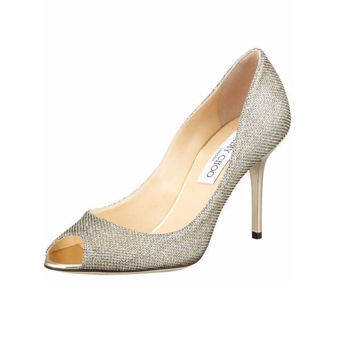 Evelyn Glitter Pointed-Toe Pump by Jimmy Choo in The Boss