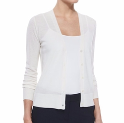 Preen V-Neck Merino Cardigan by Theory in Quantico