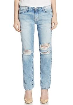 The Fling Shredded Slim Boyfriend Jeans by Current/Elliott in Pretty Little Liars