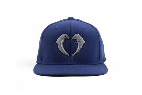 Jasper Dolphin Snapback Hat In Navy by Odd Future in Neighbors