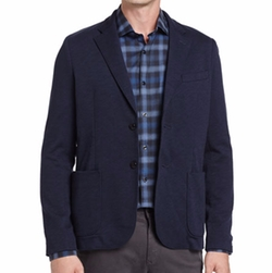 Heathered Knit Two-Button Blazer by The Good Man Brand in Jason Bourne