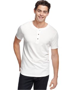 Short-Sleeve Henley Shirt by Alternative Apparel in McFarland, USA