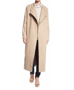 Collection Long Drama Coat by Misook in Quantico