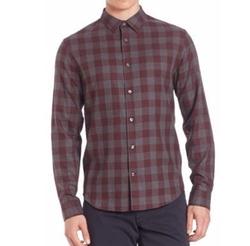 Melange Gingham Woven Shirt by Vince in Modern Family