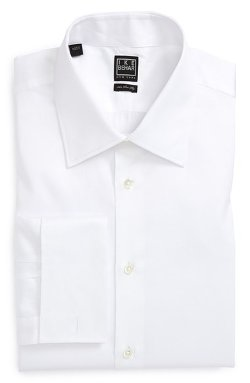 Solid French Cuff Dress Shirt by Ike Behar in The Gunman