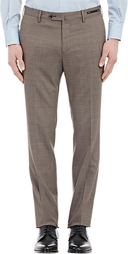Worsted Slim-Fit Trousers by PT01 in Ballers