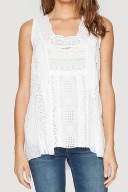 Crochet Tank Top by Johnny Was in Side Effects