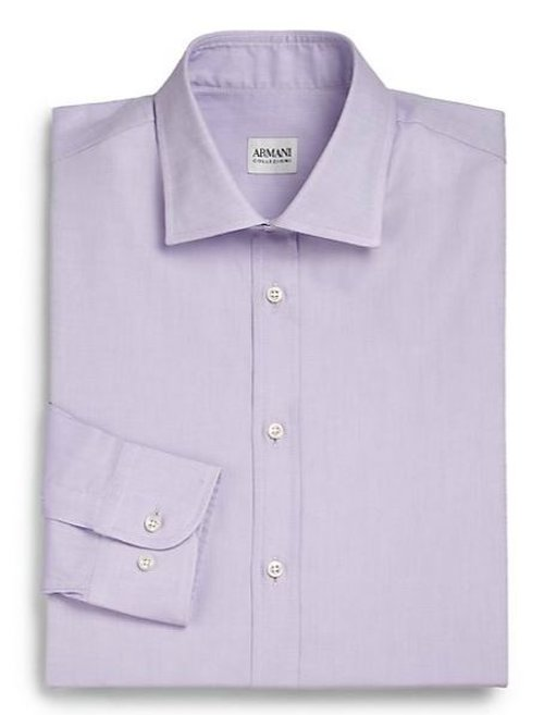 Slim-Fit Solid Cotton Dress Shirt by Armani Collezioni in The Gunman