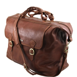 Leather Weekender Travel Bag by Tuscany Leather in John Wick