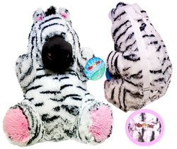 Plush Zebra Backpack by Pillow Pets in Spring Breakers