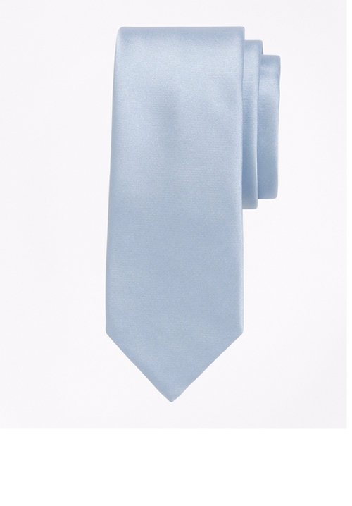 Formal Satin Slim Tie by Brooks Brothers in House of Cards