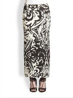 Brocade-Print Maxi Skirt by Fuzzi in The Boy Next Door