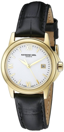Tradition Analog Display Swiss Quartz Black Watch by Raymond Weil in The Proposal