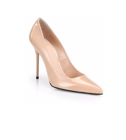 Nouveau Patent Leather Point-Toe Pumps by Stuart Weitzman in Suits
