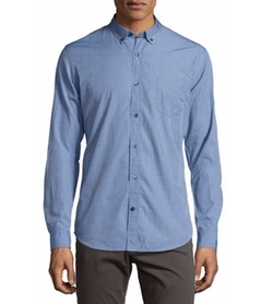 Chambray End-on-End Woven Shirt by Vince in Joshy