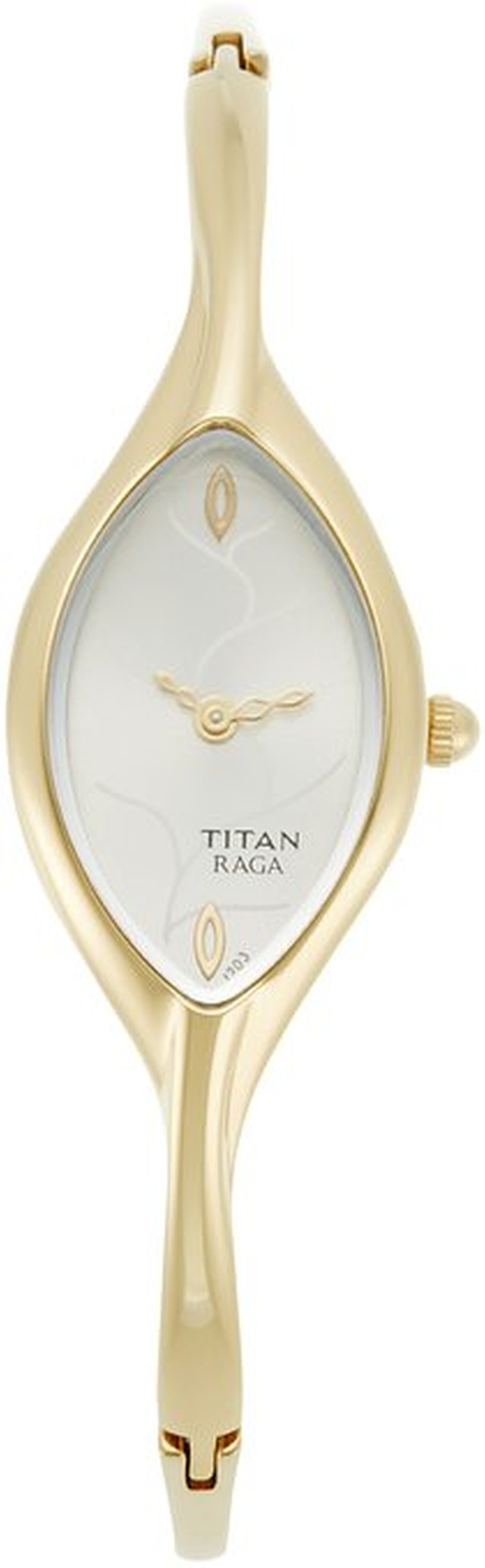 Jewelry-Inspired Gold-Tone Bangle Watch by Titan in Mr. & Mrs. Smith