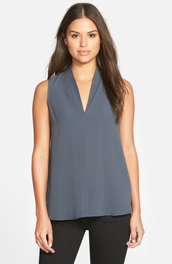 Layered V-Neck Sleeveless Blouse by Pleione in Suits