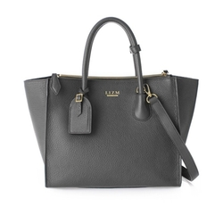 The Trapeze Real Leather Bag by Lizm New York in Guilt