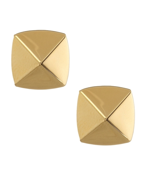 Goldtone Pyramid Stud Earrings by Vince Camuto in Pretty Little Liars - Season 6 Episode 11
