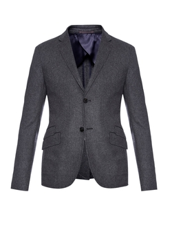 Equestrian Wool-Blend Flannel Blazer by Gucci in The Flash