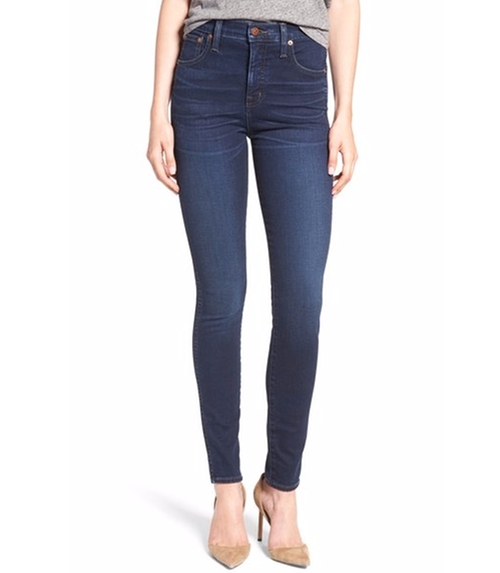 High Rise Ankle Skinny Jeans by Madewell in The Boss