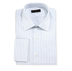 Gold Label Striped Dress Shirt by Ike Behar in Billions