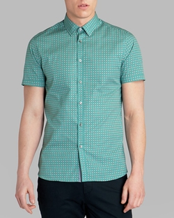 Breath Circle Print Button Down Shirt by Ted Baker in Modern Family