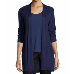 Sleek Ribbed Long Cardigan by Eileen Fisher in Fuller House