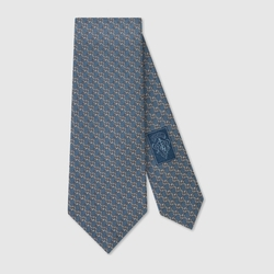 Pattern Silk Tie by Gucci in Suits